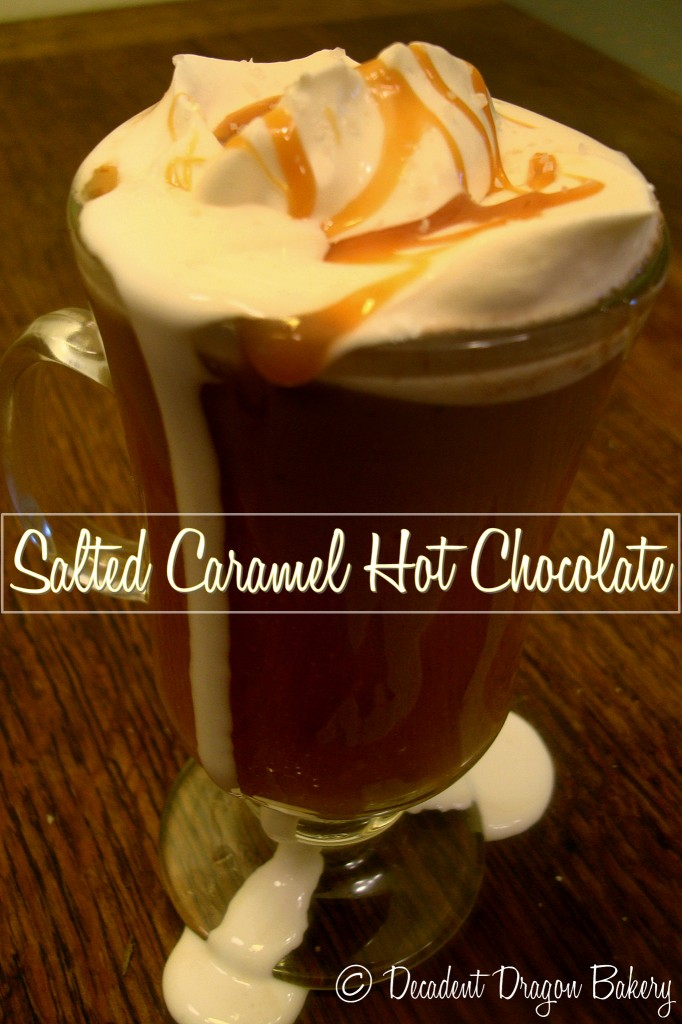 Salted Caramel Hot Chocolate Overflowing