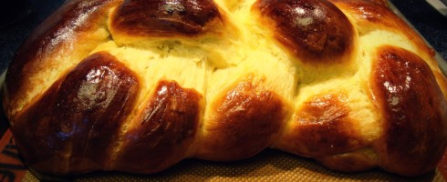Orange Challah Bread Baked