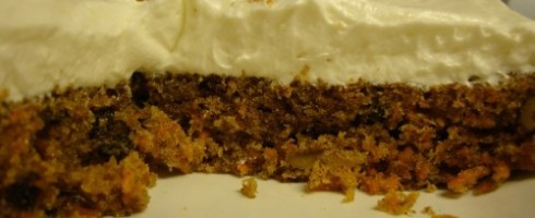 Retro carrot cake partially devoured
