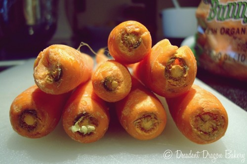 Oraganic carrots for carrot cake